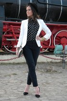 Zara blazer - H&M hat - Zara pants