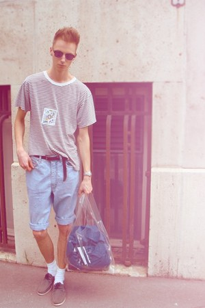 h&m fashion against aids 2011 bag - denim vintage shorts - vintage t-shirt