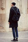 Black-h-m-shoes-black-h-m-coat-navy-vintage-jeans-black-bag