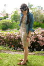Pink-i-heart-ronson-dress-blue-converse-jacket-brown-vintage-shoes-black-a