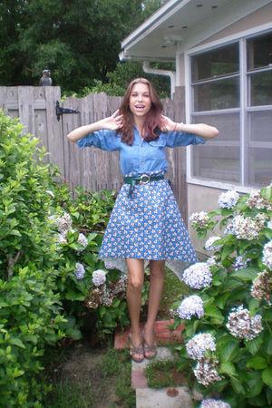 thrifted shirt - handmade skirt - Target shoes
