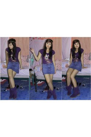 purple Hannah Montana top - blue Given skirt - purple MX boots