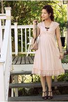 pink Forever 21 dress - black Aldo shoes - beige Forever 21 accessories
