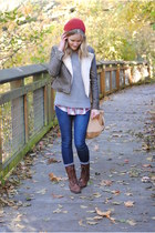 charcoal gray Forever 21 jacket - heather gray Gap sweater