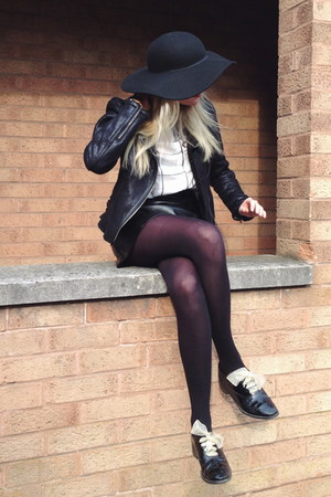 black floppy hat Topshop hat - black shearling Primark jacket