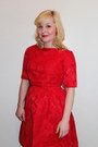Red-silk-vintage-dress
