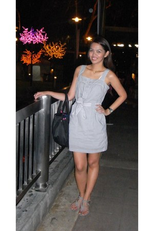 Uniqlo dress - agnes b bag - SM Dept Store sandals