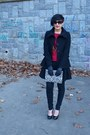 Unknown-brand-coat-snakeprint-h-m-purse-h-m-necklace-orsay-cardigan