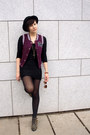 Black-ebay-shoes-black-h-m-dress-black-h-m-hat-maroon-gate-vest