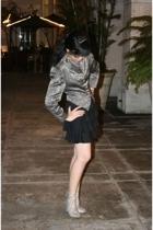thrifted blazer - thrifted skirt - Steve Madden shoes