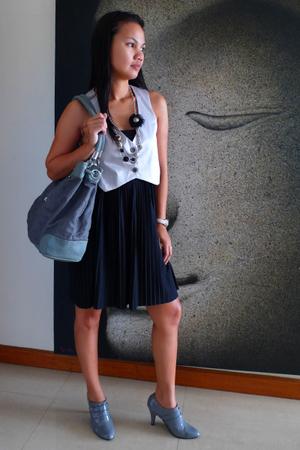 Mango dress - Armani Exchange purse - Linea Italia vest - jinelyn shoes - queent