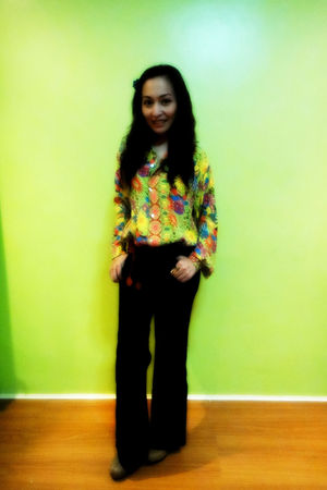 vintage blouse - Bayo pants - Shoe Salon