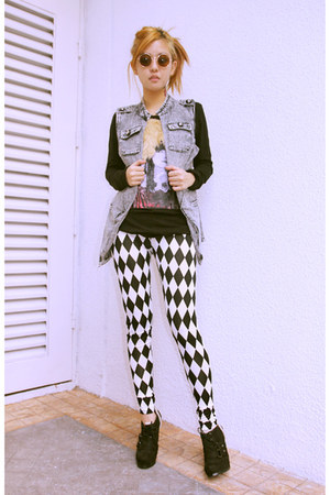 chessboard Chemical Dreams Clothing leggings - Chemical Dreams Clothing top