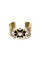 New Fashion Vintage Hollywood Gold Cuff Bracelet with Gems