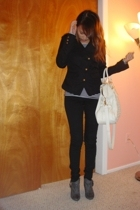 H&M jacket - Cheap Monday jeans - Zara boots - UE purse