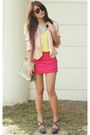 Peach-random-blazer-yellow-forever21-blouse
