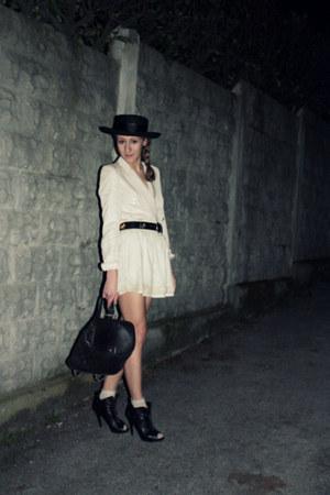 westrags shoes - vintage hat - Zara blazer - Chanel purse - Zara skirt