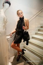 Raphael Young shoes - Rick Owens dress - Sara Battaglia bag