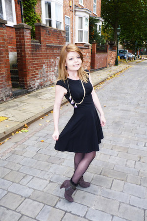 black Topshop dress - dark green Topshop socks