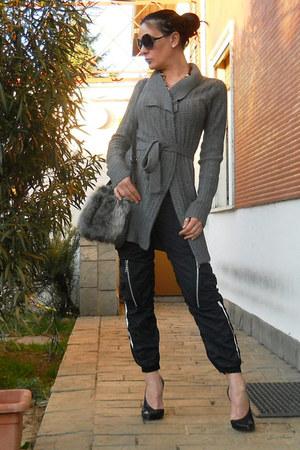black Zara shoes - heather gray Topshop bag - black asos sunglasses
