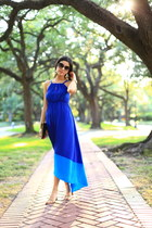 blue colorblock maxi Old Navy dress