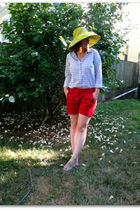 Anthropologie hat - JCrew shirt - Marshalls shorts - Pour La Victoire shoes