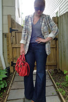 vintage blazer - American Apparel t-shirt - Old Navy jeans - Chloe purse