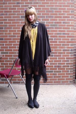 gray Aldo stockings - gray Nordstrom stockings - black Cache shoes