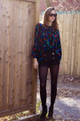 Black-wilfred-shorts-black-chloe-blouse-black-zara-boots