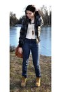 Off-white-accessorize-ring-navy-stradivarius-jeans-bershka-jacket