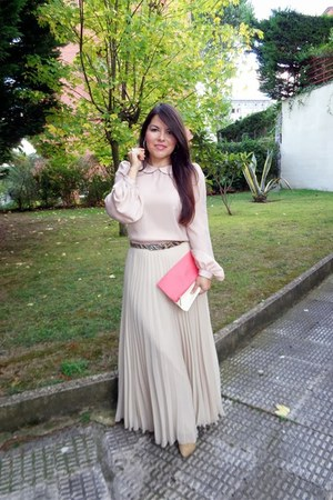 bubble gum Zara skirt - light pink Primark blouse