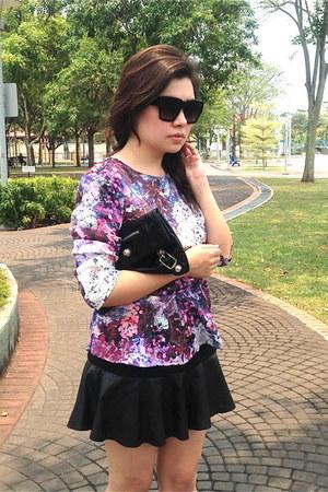 Zara skirt - H&M blouse - AM Eyewear glasses