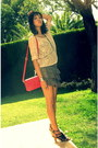 Puce-tiered-ruffled-topshop-skirt-red-satchel-leather-zara-bag