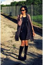 black wedges Hispanistas boots - black Lipsy dress