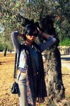 bronze trf ankle boots Zara boots - heather gray skinny Zara jeans