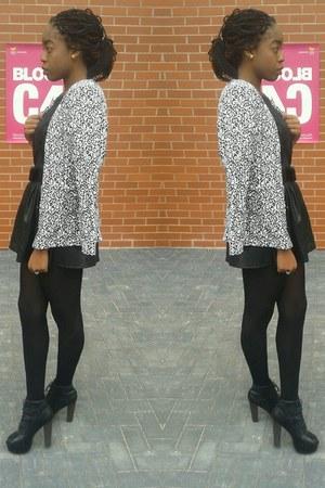 faux leather Skater Skirt skirt - Snood scarf