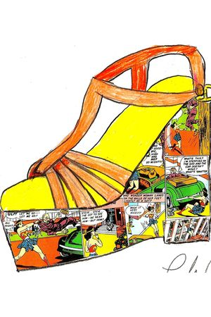 orange Chloe Christoforou Design shoes