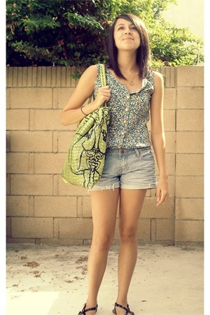 necklace - thrifted dress - Forever21 shorts - Marc by Marc Jacobs purse - Urban