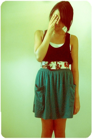 Forever21 top - vintage belt - American Apparel skirt - H&M shoes