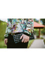 Eggshell-floral-bomber-zara-jacket-black-studded-clutch-renner-bag
