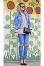 Sky-blue-diy-jeans-sky-blue-jeans-h-m-jacket-black-studded-mohito-bag