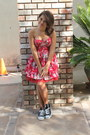 Red-forever-21-dress-black-converse-shoes