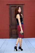 Juicy Couture skirt - Zara top - Jason Wu heels