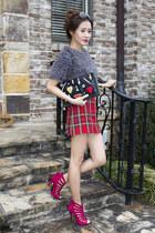 Topshop skirt - Guiseppe Zanotti shoes - Topshop shirt
