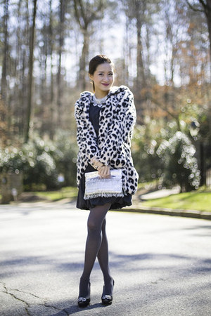 leopard print PJ Salvage coat - pumps Jimmy Choo shoes - Dolce & Gabbana dress