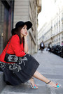 Sophia-webster-shoes-giorgio-armani-jacket-chanel-bag-red-valentino-skirt