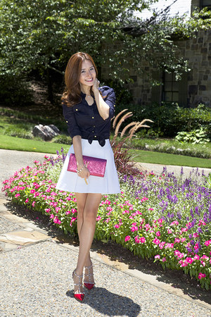 31 Phillip Lim skirt - YSL bag - Valentino sandals - tory burch blouse