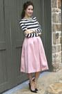 Zara-shoes-statement-bcbg-max-azria-necklace-stripes-zara-top