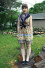 Mustard-tribal-print-forever-21-dress-purple-printed-gift-scarf-black-payles