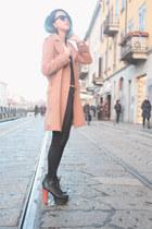 black Jeffrey Campbell boots - brown H&M coat - black Promod jeans